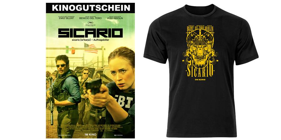 Sicario - Emily Blunt - Benicio Del Toro - Josh Brolin - Studiocanal - kulturmaterial - Gewinnspiel - Fan Artikel
