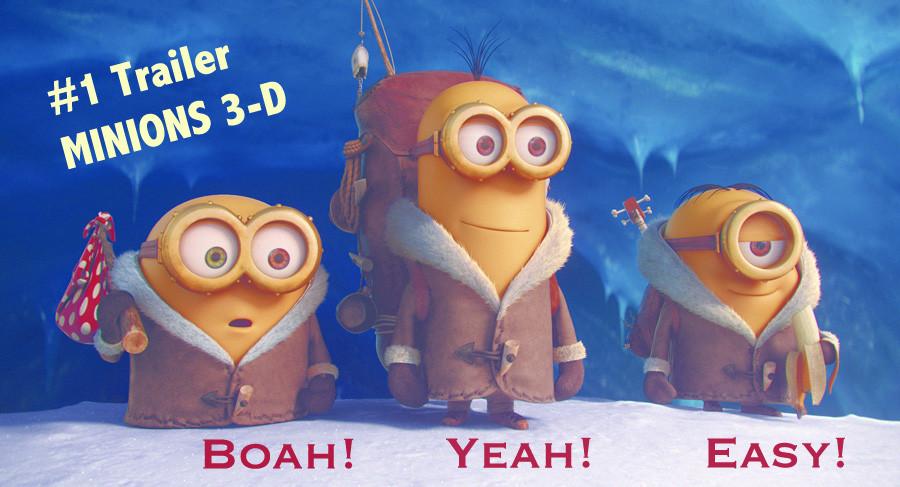 Minions 3D 3-D Trailer klein gelb aus ICH – EINFACH UNVERBESSERLICH Universal Pictures Kino Film kulturmaterial