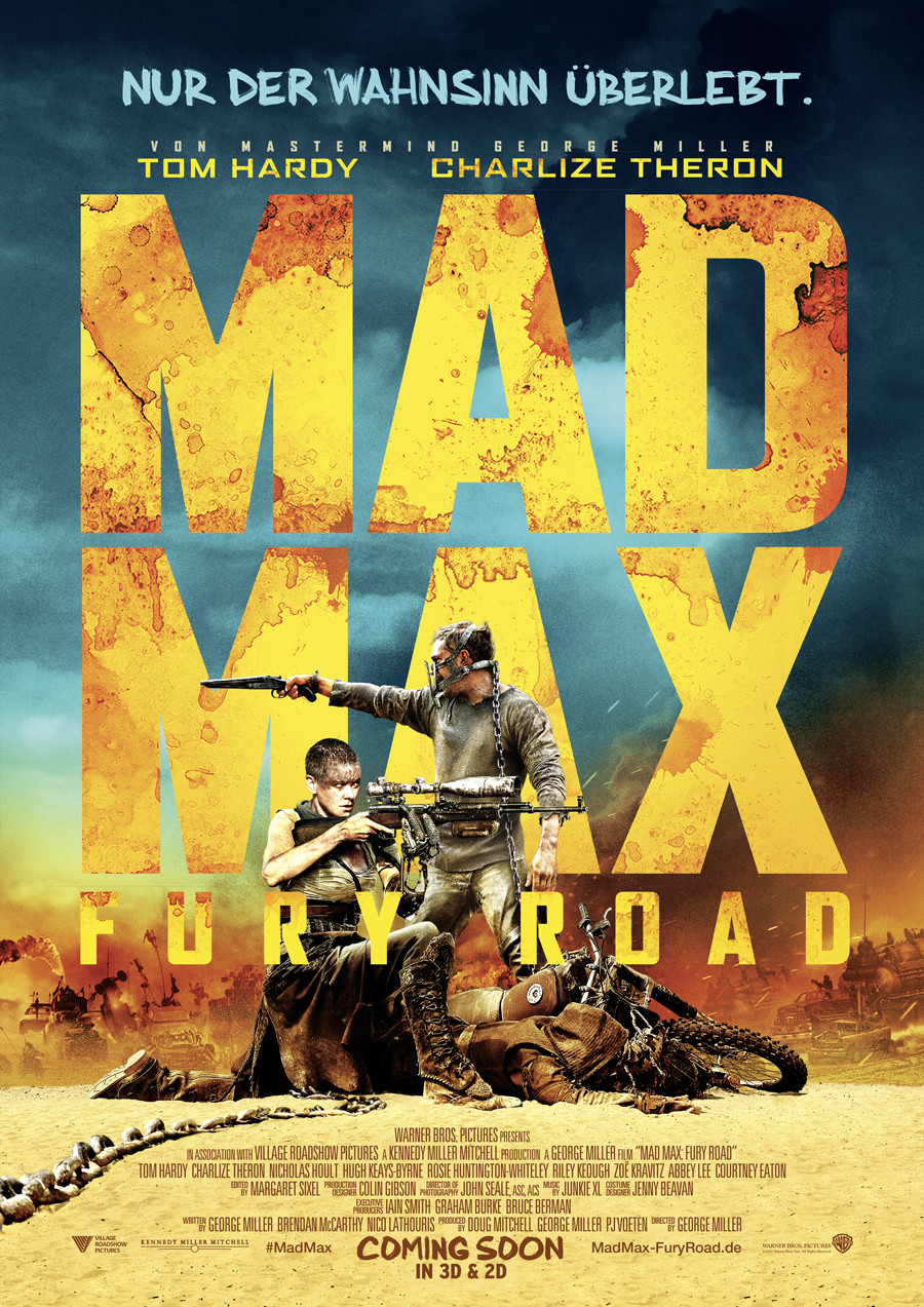 Mad Max Fury Road - Gewinnspiel - Warner Bros - kulturmaterial - Filmplakat