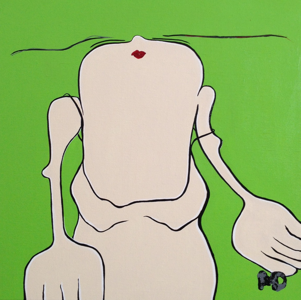 Steal Away (Green) - Acryl - 50x50
