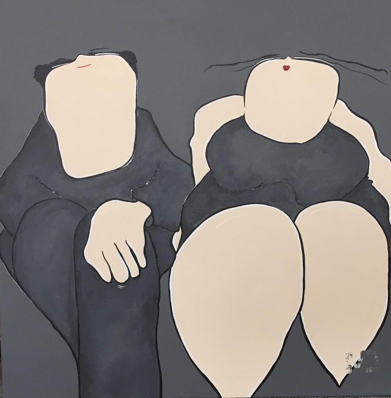 Parlez-moi d'Amour - Acryl - 50x50 - 1/4