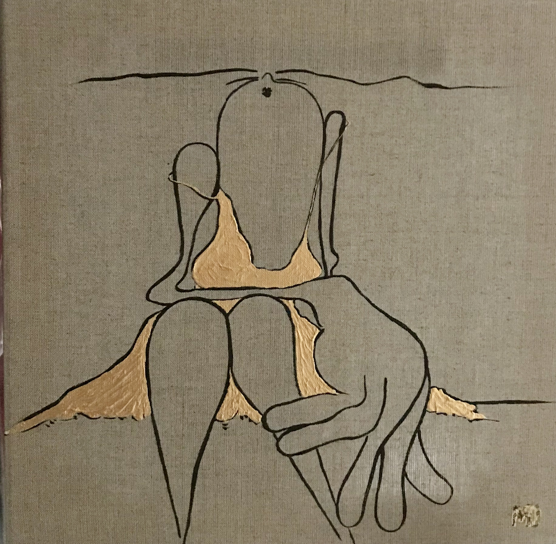 Golden Girl - Acryl - 40x40 - 2/2