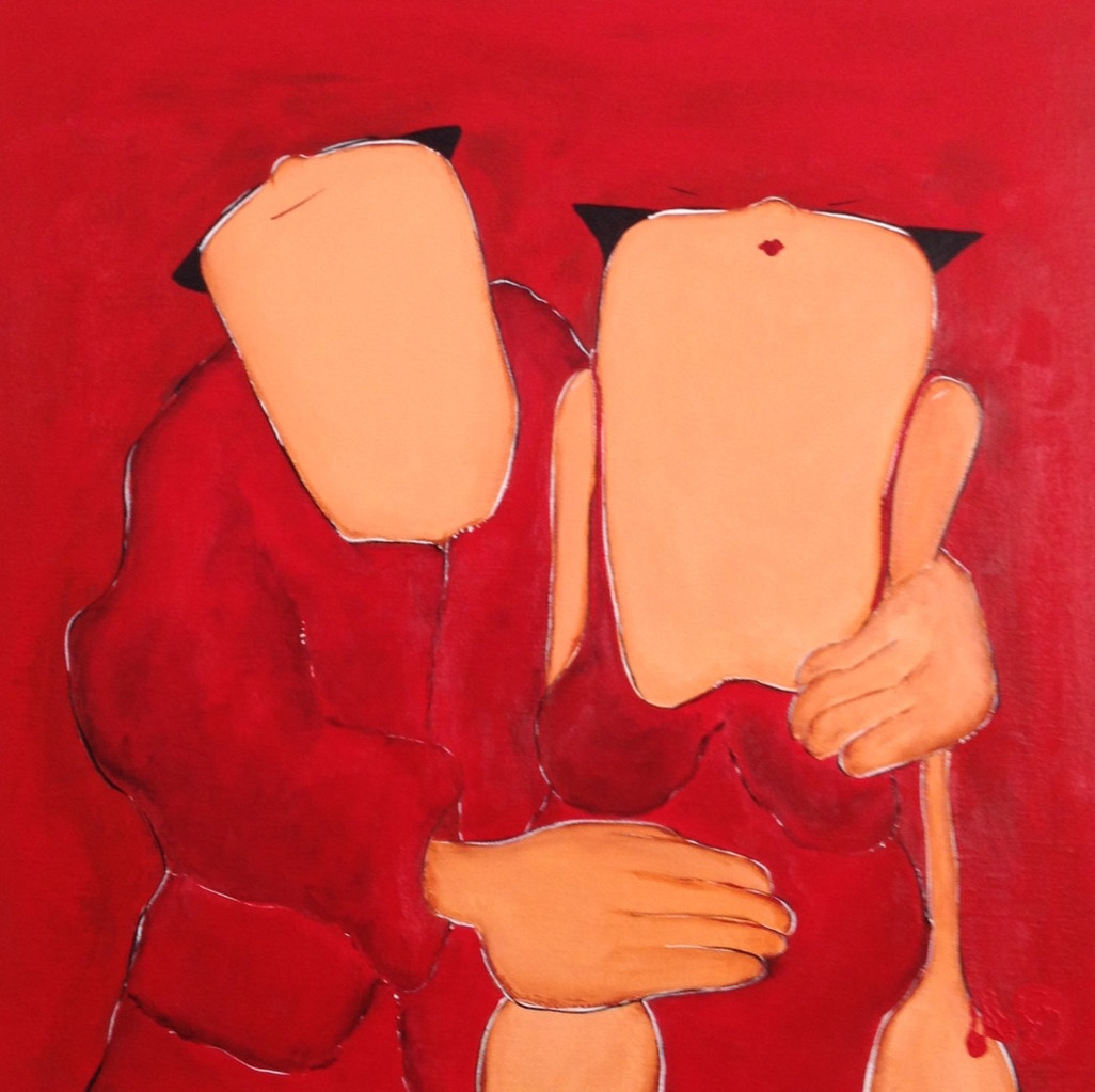 Because (2) - Acrylic on canvas - 50x50