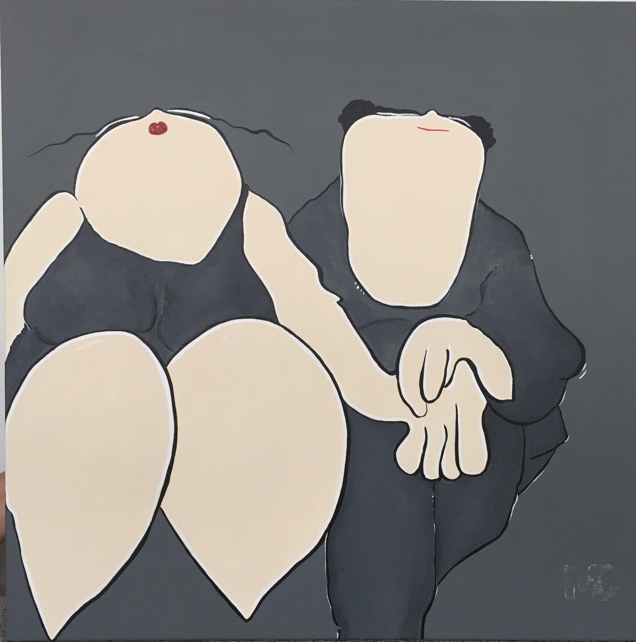 Parlez-moi d'Amour - Acryl - 50x50 - 2/4