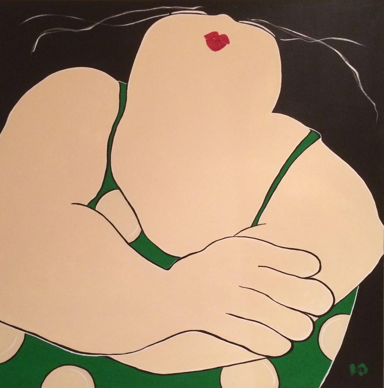 O Amor em paz - Acryl - 100x100