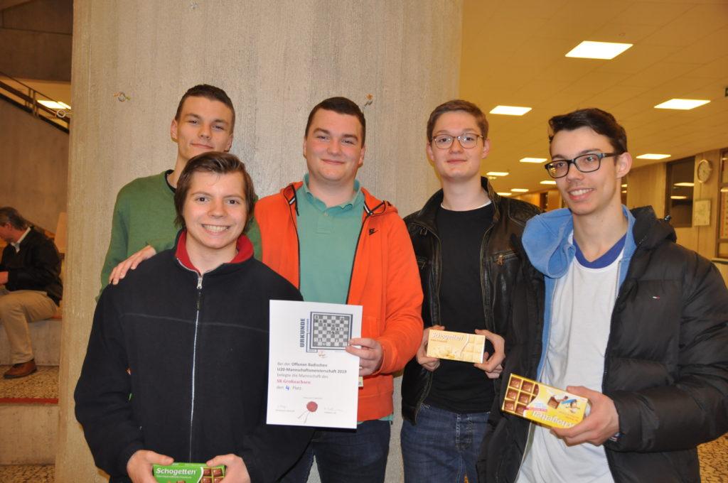 U20 Mannschaft des SK Großsachsens auf der Badischen Meisterschaft