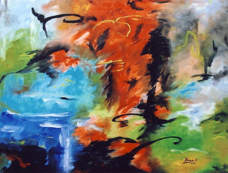 NYÁRI HANGULAT (olaj-vászon, 60x80 cm)