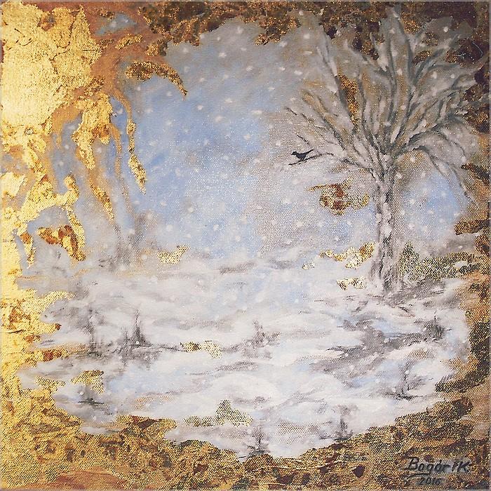 TÉL (olaj-vászon, 40x40 cm)