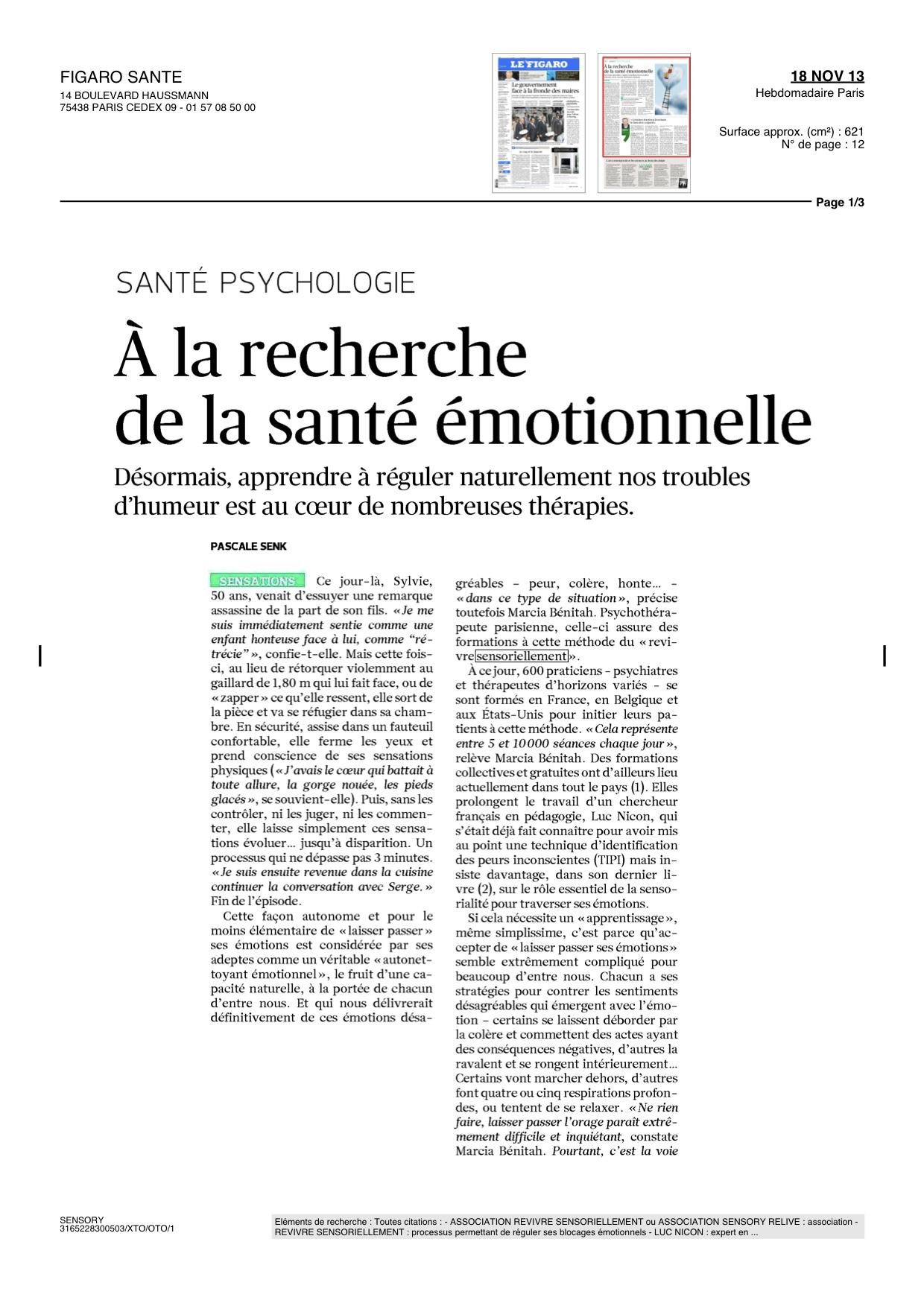 Le Figaro Santé - Page 1 sur 2 - 2013