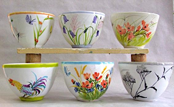 Little bowls for tea.