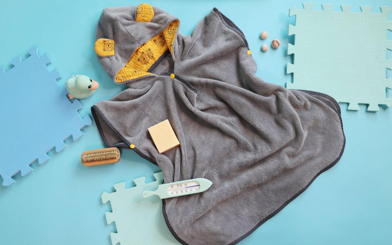 Badeponcho für Kinder nähen