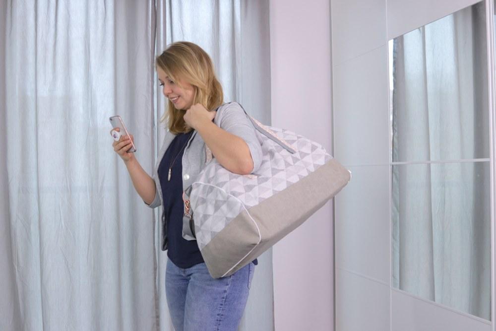 Reisetasche nähen und individualisieren - DIY Eule