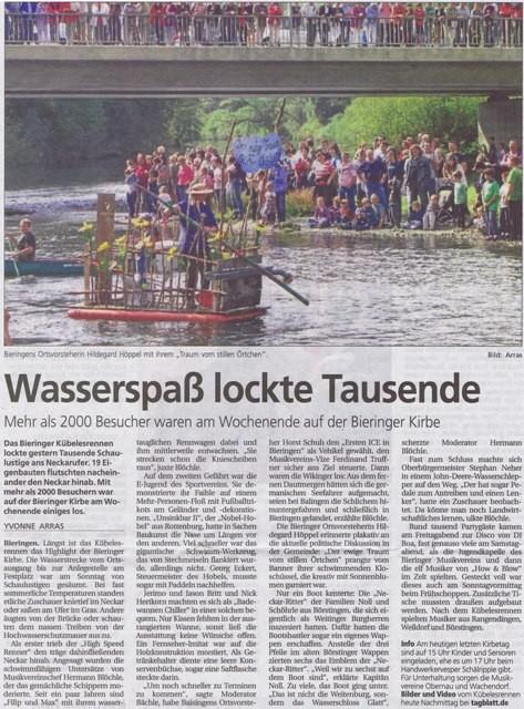 Schwäbisches Tagblatt vom 24.09.2012