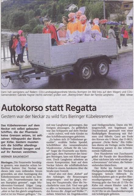Schwäbisches Tagblatt vom 27.09.2010