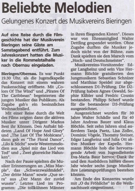 Schwäbisches Tagblatt vom 20.12.2011