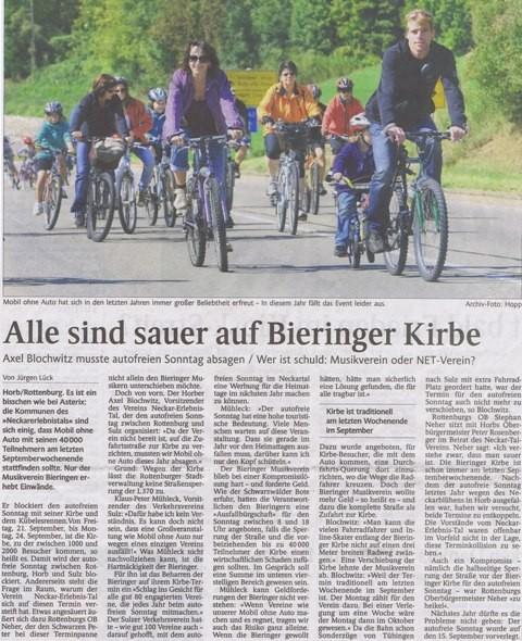 Schwarzwälder Bote vom 31.08.2012