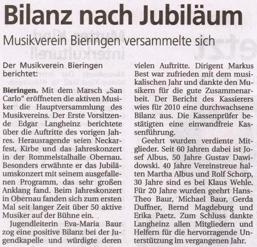 Schwäbisches Tagblatt vom 29.03.2011