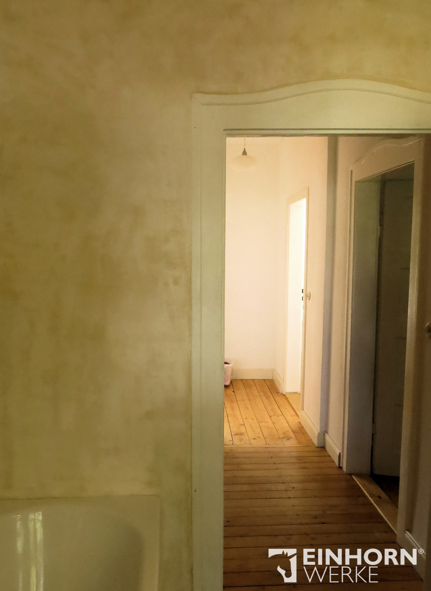 STUCCORINO 2503 + STUCCORINO Fresco Natur + EINHORN WERKE ® Imprägnierung - Wandgestaltung Badezimmer