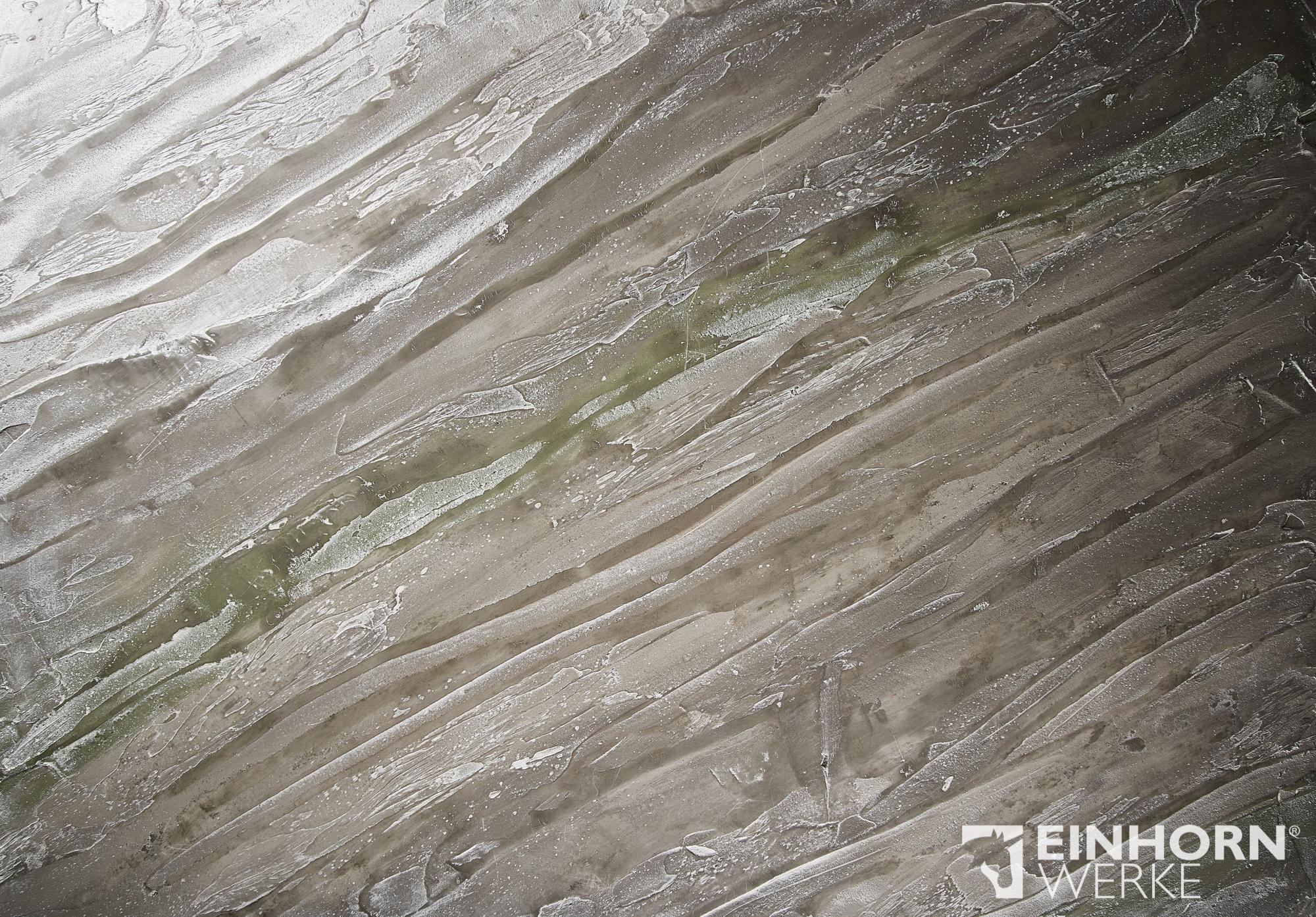 STUCCORINO 0905 + 0904 + 2406 + STUCCORINO Effect - Silber - edle Wohnzimmer Wände