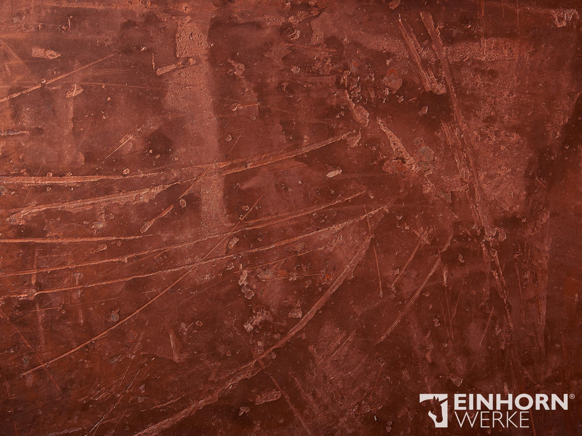STUCCORINO 1306 + Perlglimmer grob + STUCCORINO Fresco 1306 + Stuccorino Effect Kupfer + Einhorn Werke