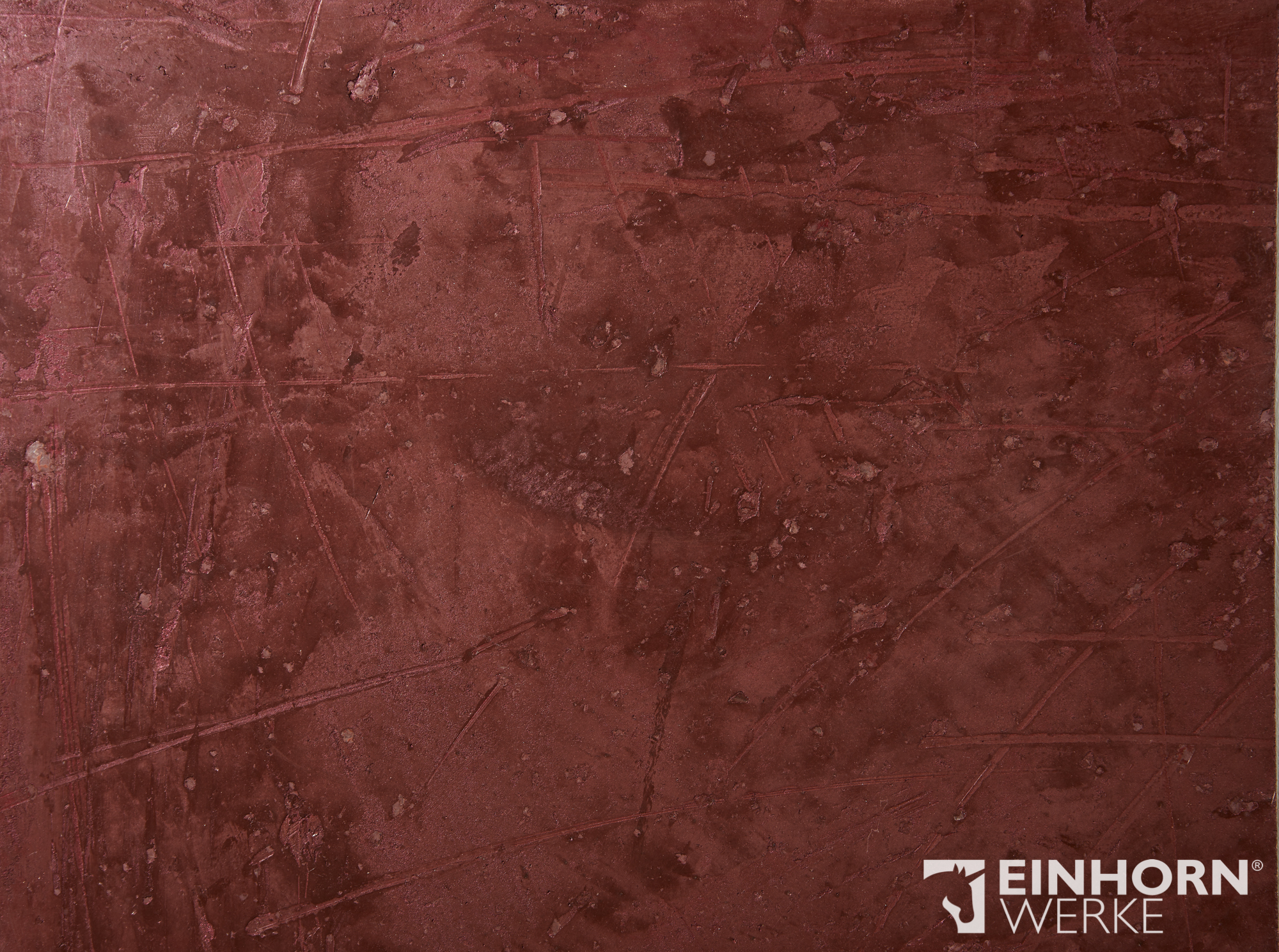 STUCCORINO 1306 + Perlglimmer grob + STUCCORINO Fresco - 1306 + STUCCORINO Effect - Rubin - edle Wandgestaltungen aus Marmoputz von EINHORN WERKE