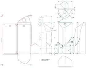自動車用品 パッケージ設計参考図