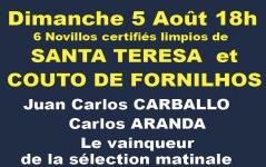Novillos de Santa Teresa et Couto de Fornilhos pour Carballo, Aranda et Mejias