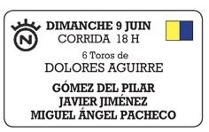 Toros de Dolores Aguirre pour Gomez del Pilar, Javier Jimenez et Miguel Angel Pacheco