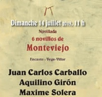 Novillos de Monteviejo pour Juan Carlos Carballo, Aquilino Giron et Maxime Solera