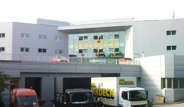 Umbau und Erweiterung Möbel Hardeck (Haus2) in Bochum, Erweiterung der Verkaufsfläche und energetische Sanierung. Architekt: SSP Bochum ; Baultg.: Gerhard Welter