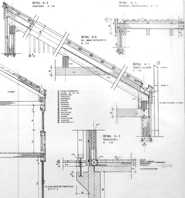 Konstruktionsdetails (weitere) zu Holzhaus.