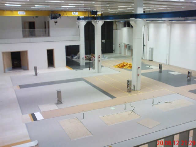 Werkhalle für Versuchsanlagen