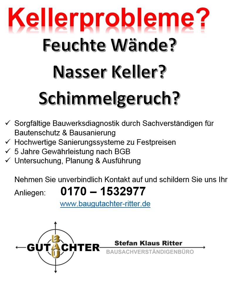 Kellersanierung Anbieter Calw - Schorndorf - Bad Liebenzell - Kellerabdichtung