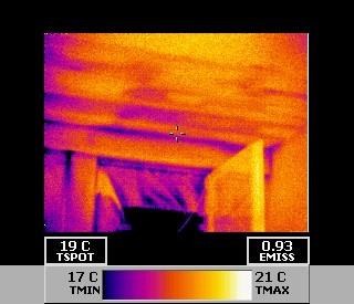 Gebäudethermografie im Zusammenhang mit Blowerdoor Unterdruckverfahren