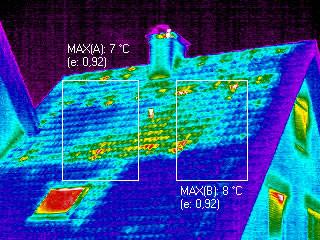 Mängel der Dachdämmung visualisieren