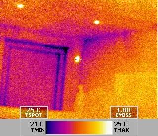 Wärmebildaufnahme läßt keinen Zweifel offen