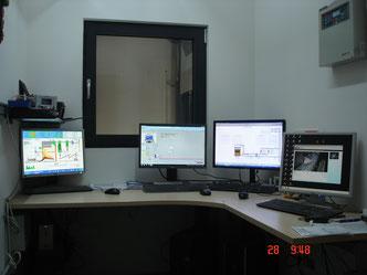 Kontroll- und Steuerzentrale im Biomassewerk Mühlen