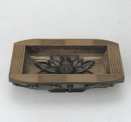 螺鈿平文蓮 手刳鉢
