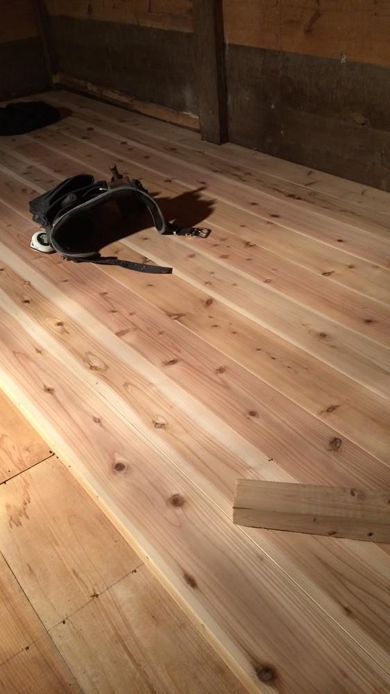 蔵の床全面取替工事