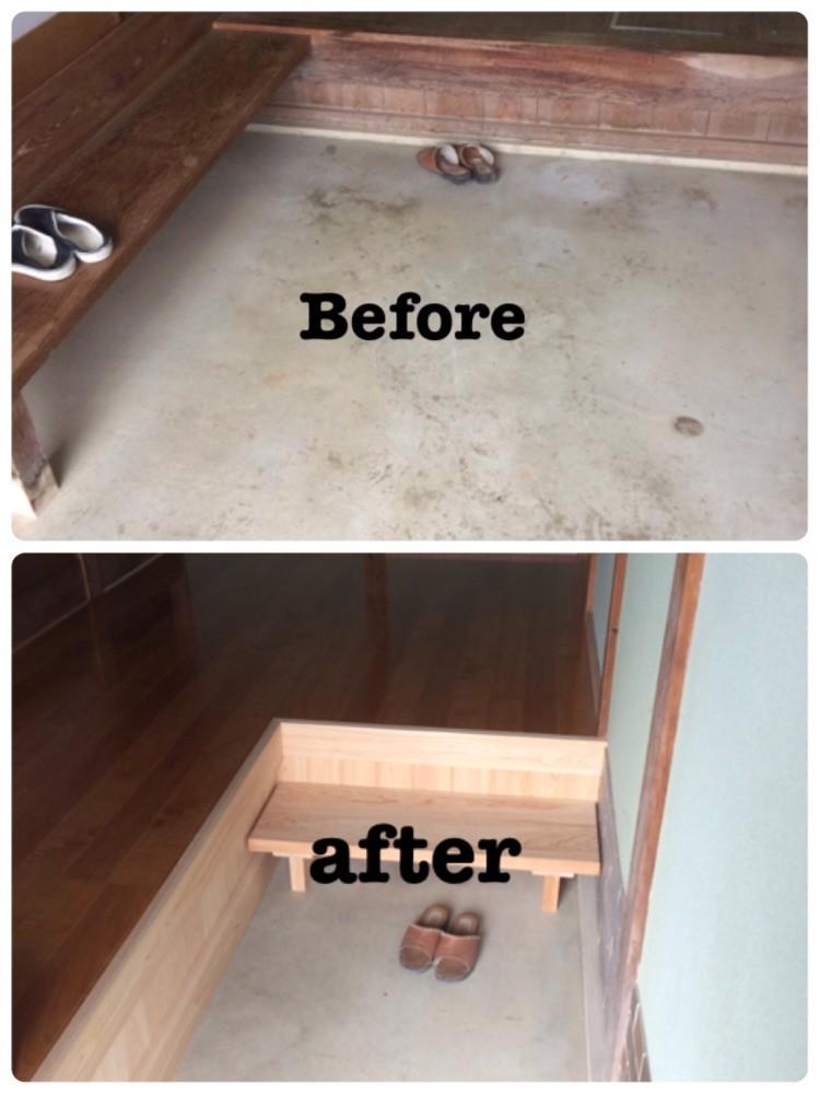 玄関ホール床改修