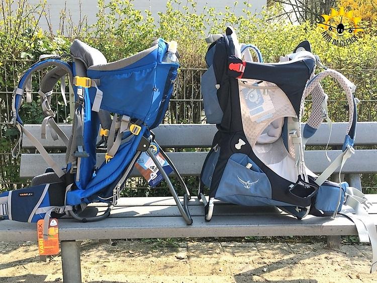 Wandertragen bzw. Kraxen müssen ausführlich von Träger und Kind getestet werden.
