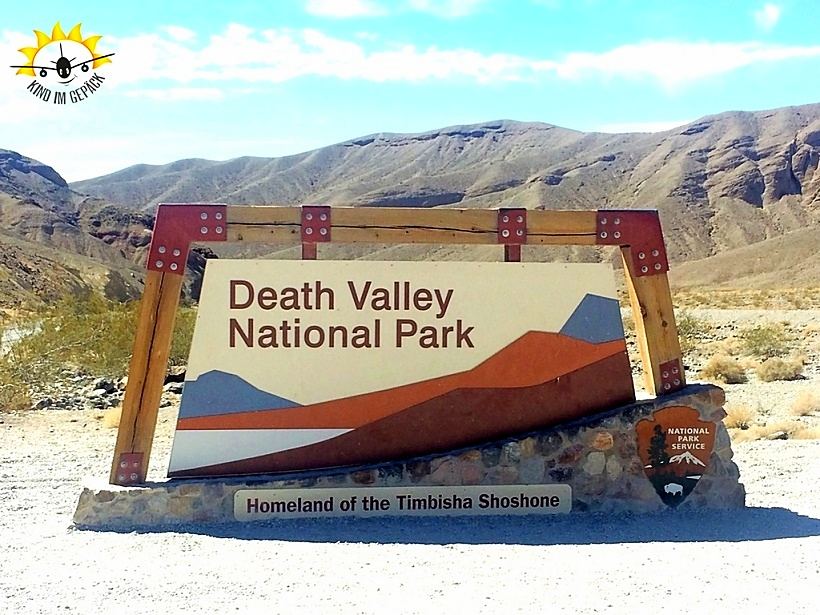 Der Eingang zum Death Valley Nationalpark