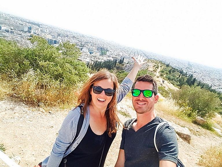 """Steffi & Lui von """"comewithus2"""" in Athen."""