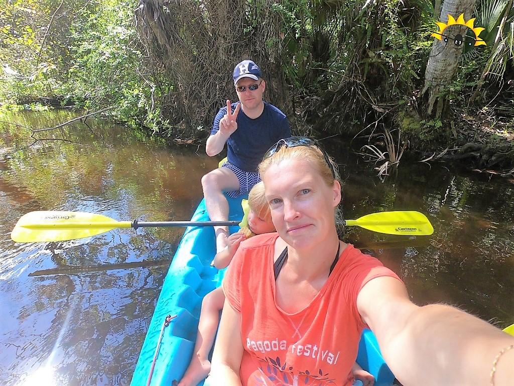 Mit dem Kajak in Florida mit Kind unterwegs.