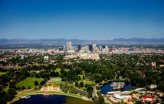 Der Blick auf Denver. Während unserer Wohnmobil-Abholung haben wir wenig Zeit diesen zu geniesen.
