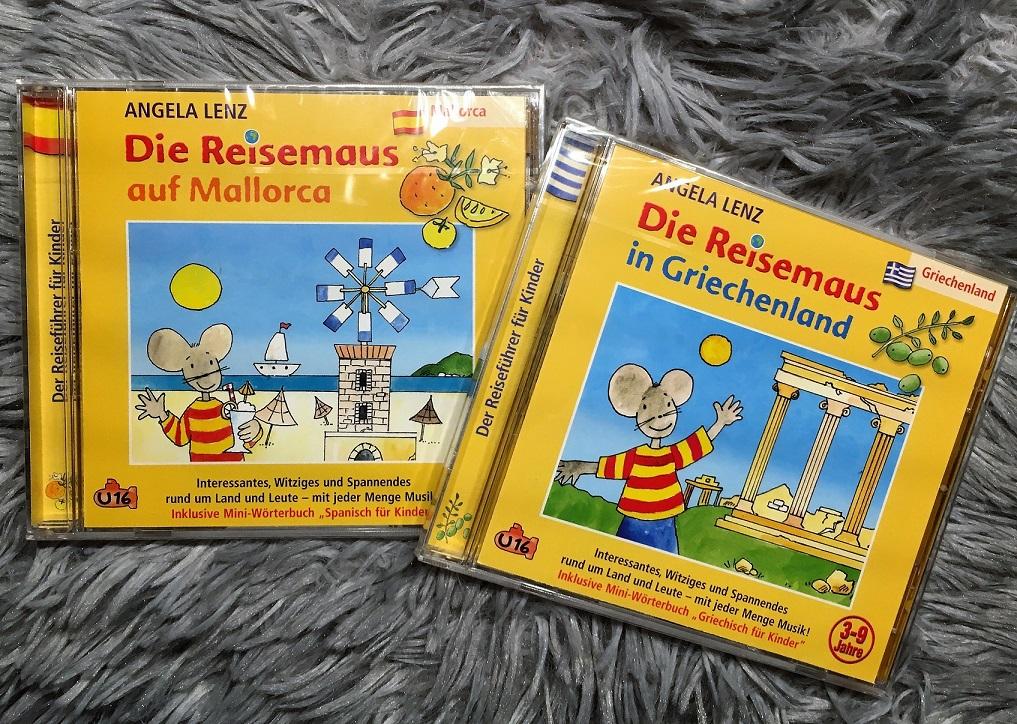 In jedem Max & Fred Rucksack: eine Reisemaus-CD - der spannende Hörspiel-Reiseführer für Kinder.