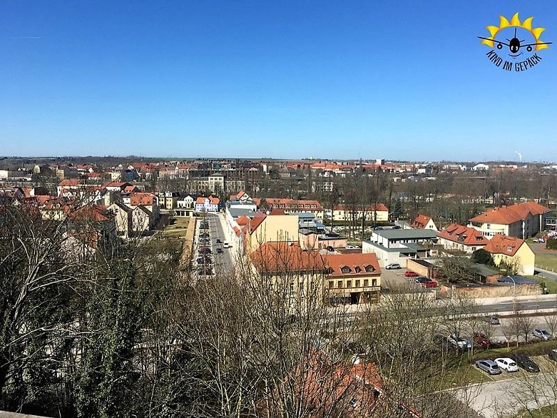 Der Blick auf Weißenfels von dem Schloss Neu Augustusbrug aus.