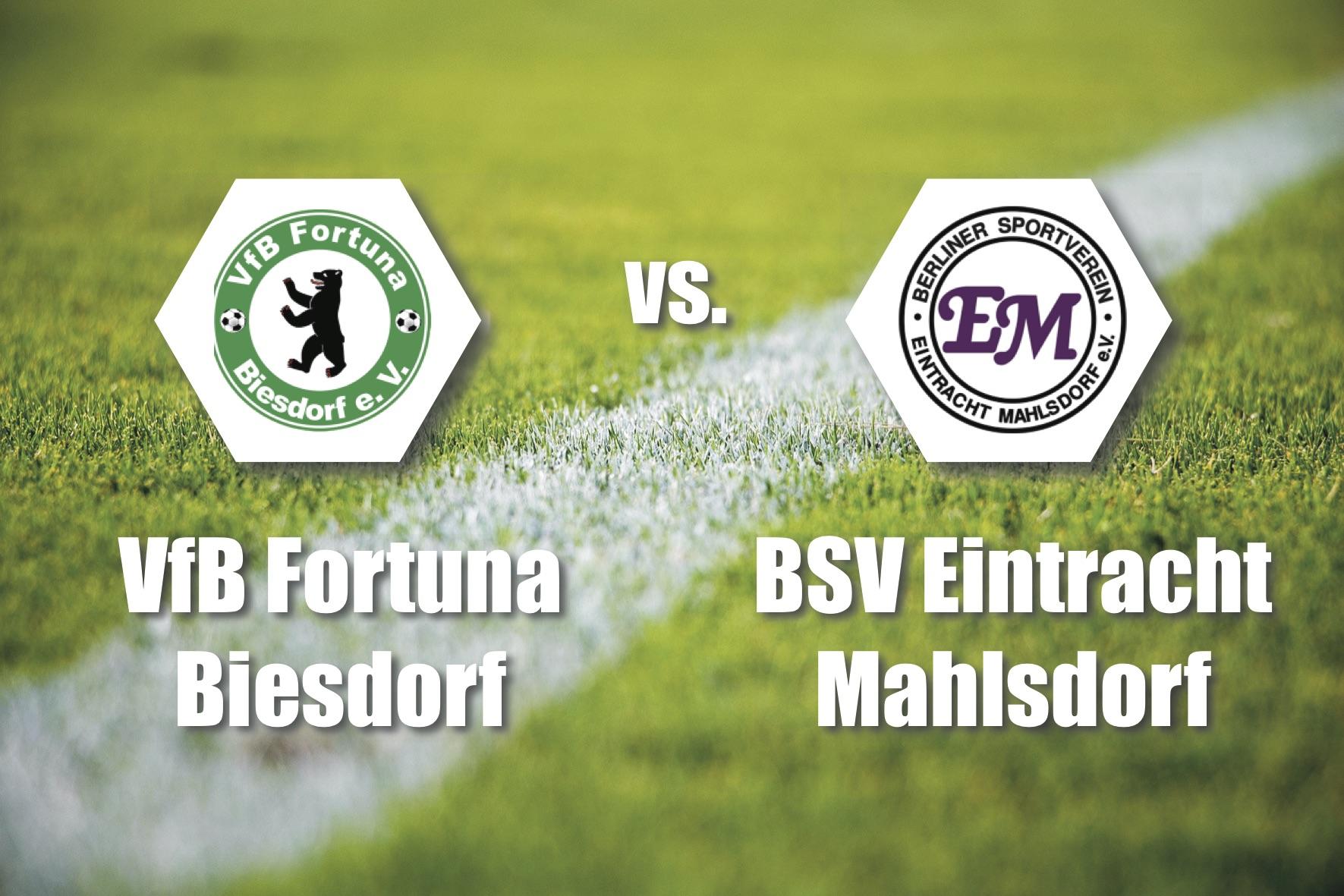 Tipp 9: Sa, 2.11., 14 Uhr: Lokalderby in der Berlin-Liga. Fortuna Biesdorf empfängt am Grabensprung Eintracht Mahlsdorf.