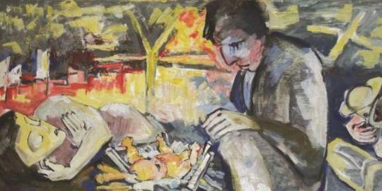 """Tipp 19: So, 15.9., 18 Uhr: """"Zeitkreise"""". Malerei und Grafik von Christel Bachmann. Vernissage im Ausstellungszentrum Pyramide"""