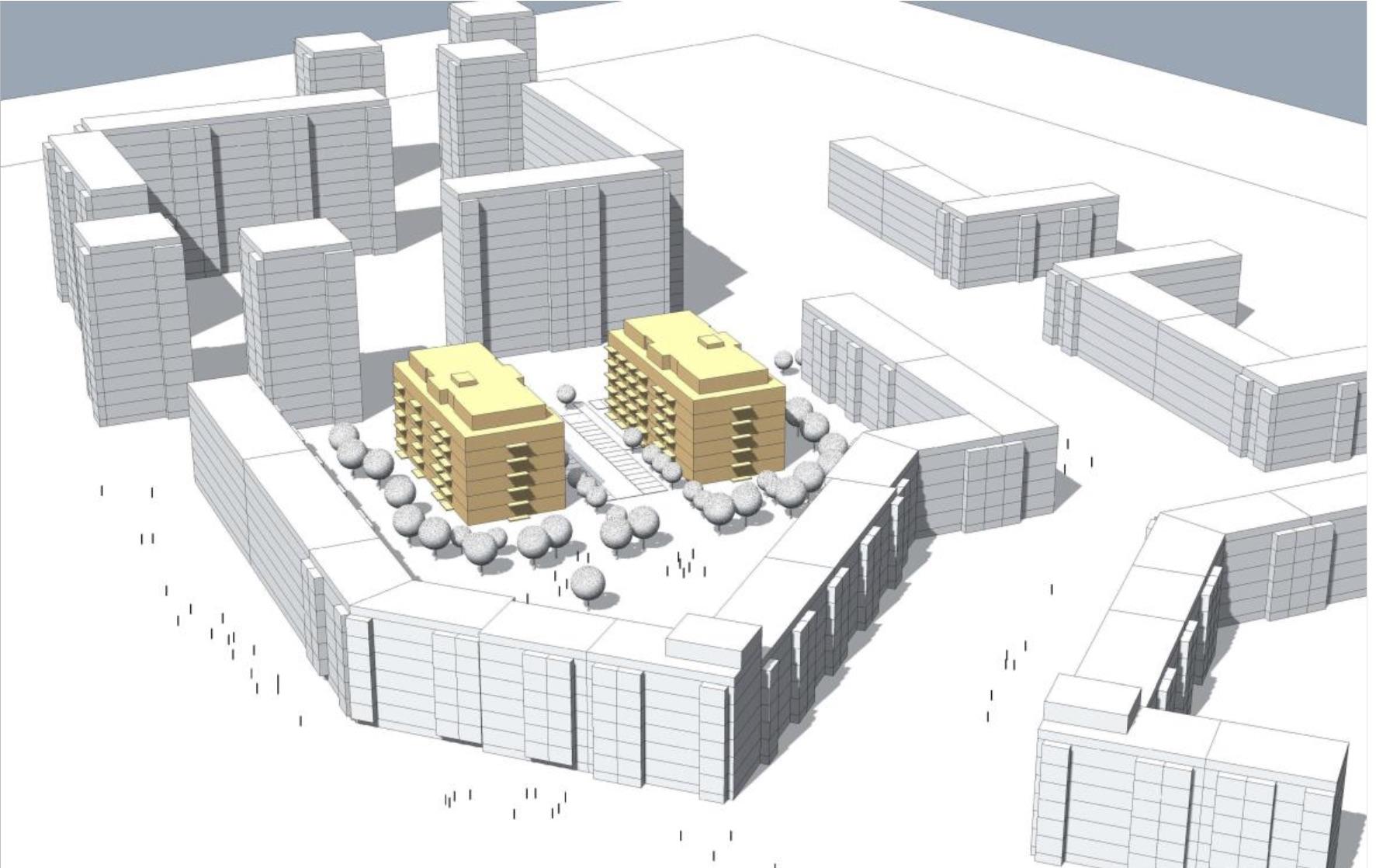 Visualisierung Bauvorhaben Lily-Braun-Straße 13 und 15
